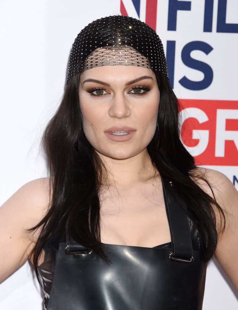Singer Jessie J proved that being unique is beautiful; she gave justice to this loose hairstyle incorporated with a decorative hairnet during the Film is GREAT Reception, February 24, 2017.