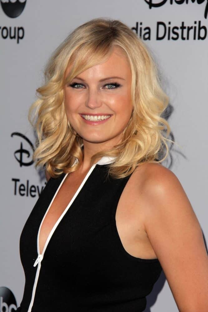 Bubbly can be sexy too. Like how Malin Akerman slayed this tousled lob with bangs during the Disney Media Networks International Upfronts, August 4, 2013.