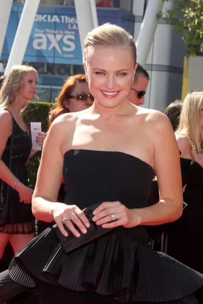 Malin Akerman pulled off this sophisticated yet simple look with her sleek and tight upstyle paired with a black high-fashion gown during the Creative Emmys 2013.