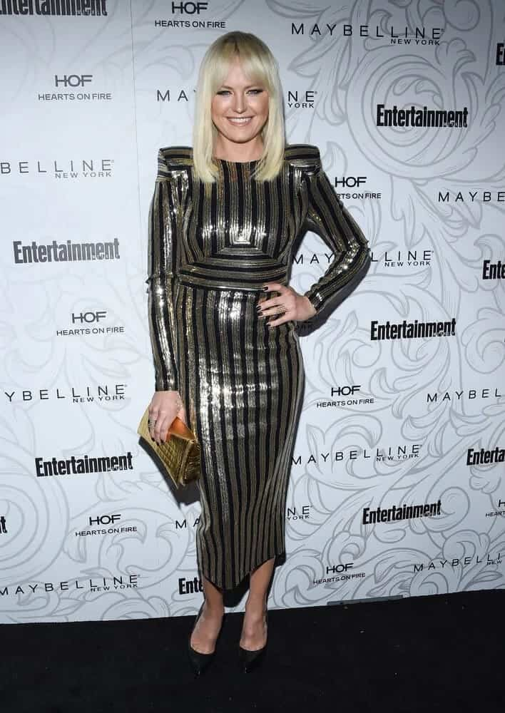 Malin Akerman was elegant and beautiful with this straight medium-length hairstyle with curtain bangs during the Entertainment Weekly Pre-SAG Awards Celebration last January 28, 2017.