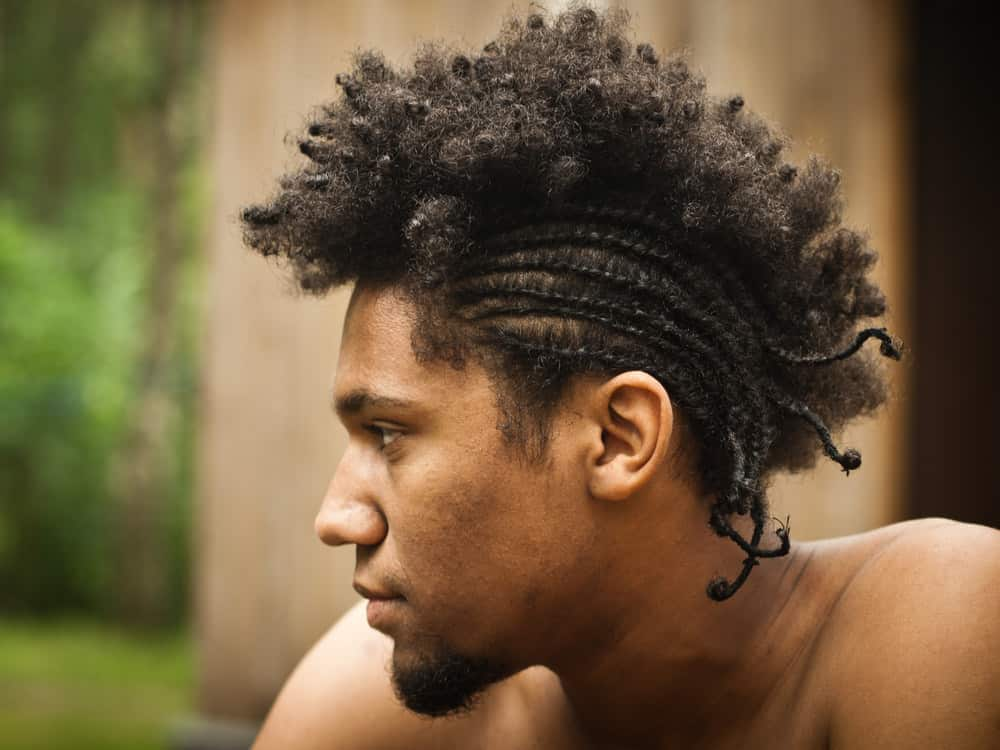 Man with braids fade hair