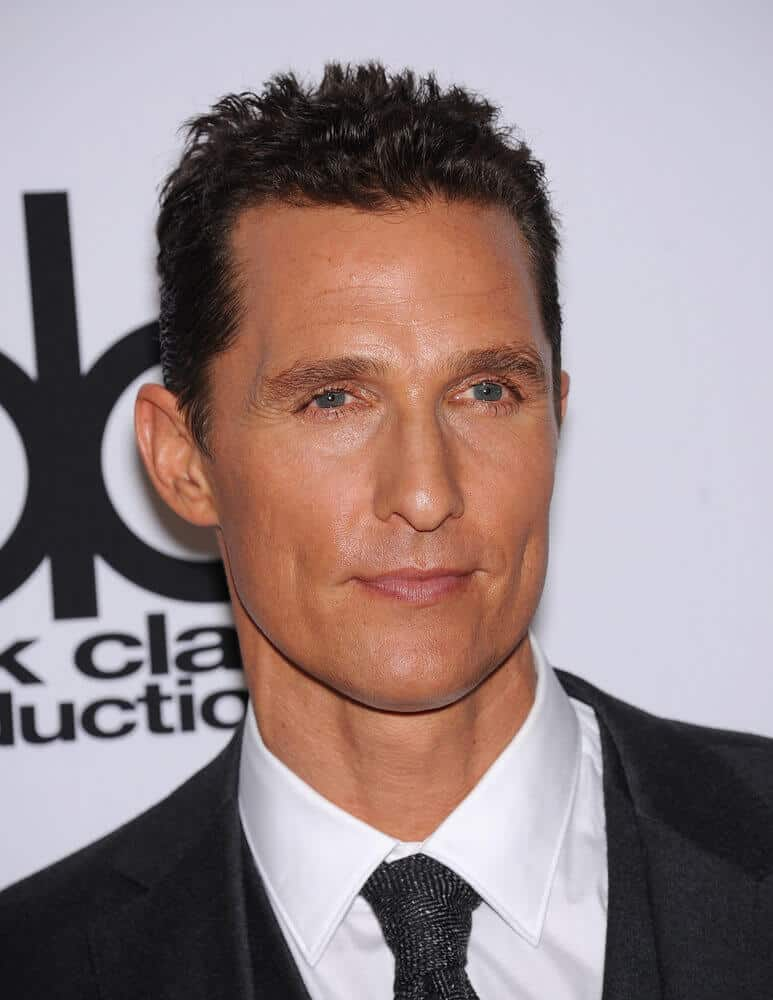 The ever dapper McConaughey in a short crew cut during the Hollywood Film Awards Gala 2013.