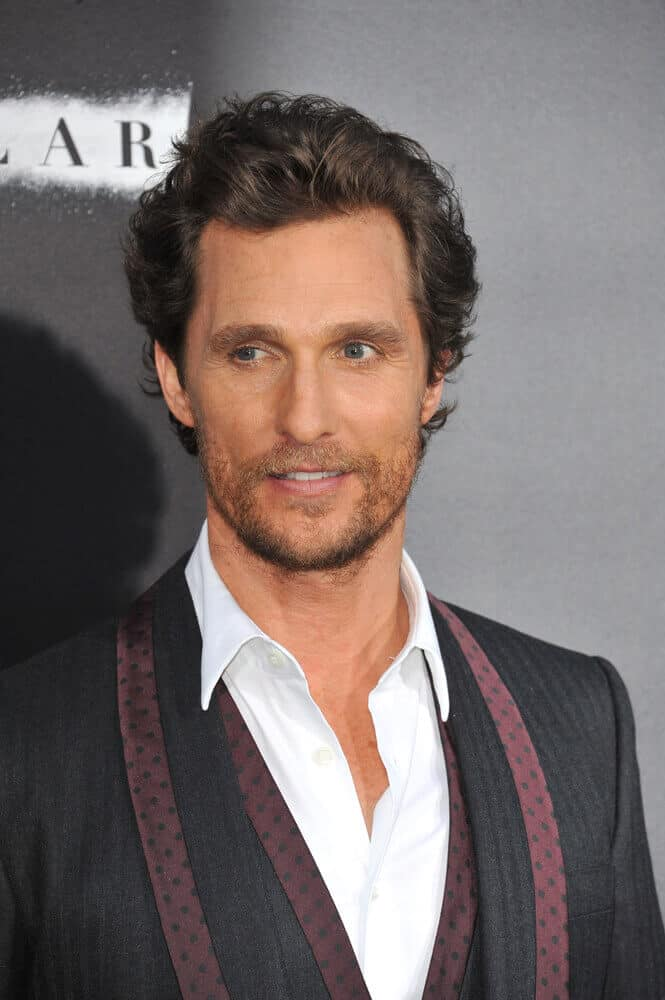 "With just a little trim and a soft toss, the actor attended the LA Premiere of his movie ""Interstellar"" in a classy manner."