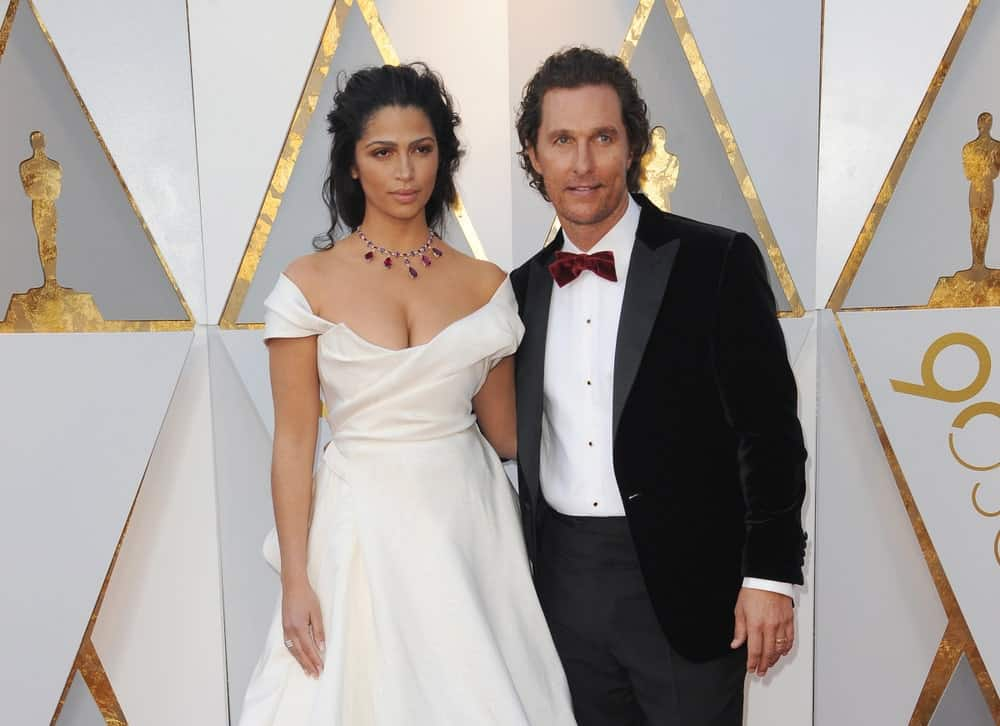 Camila Alves and Matthew McConaughey, who was wearing an elegant tuxedo and messy long dark waves, were at the 90th Annual Academy Awards held at the Dolby Theatre in Hollywood last March 4, 2018.