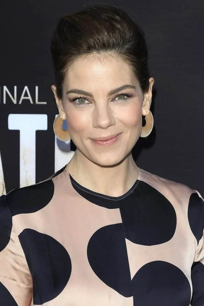 The high neat ponytail that Michelle Monaghan wore at the