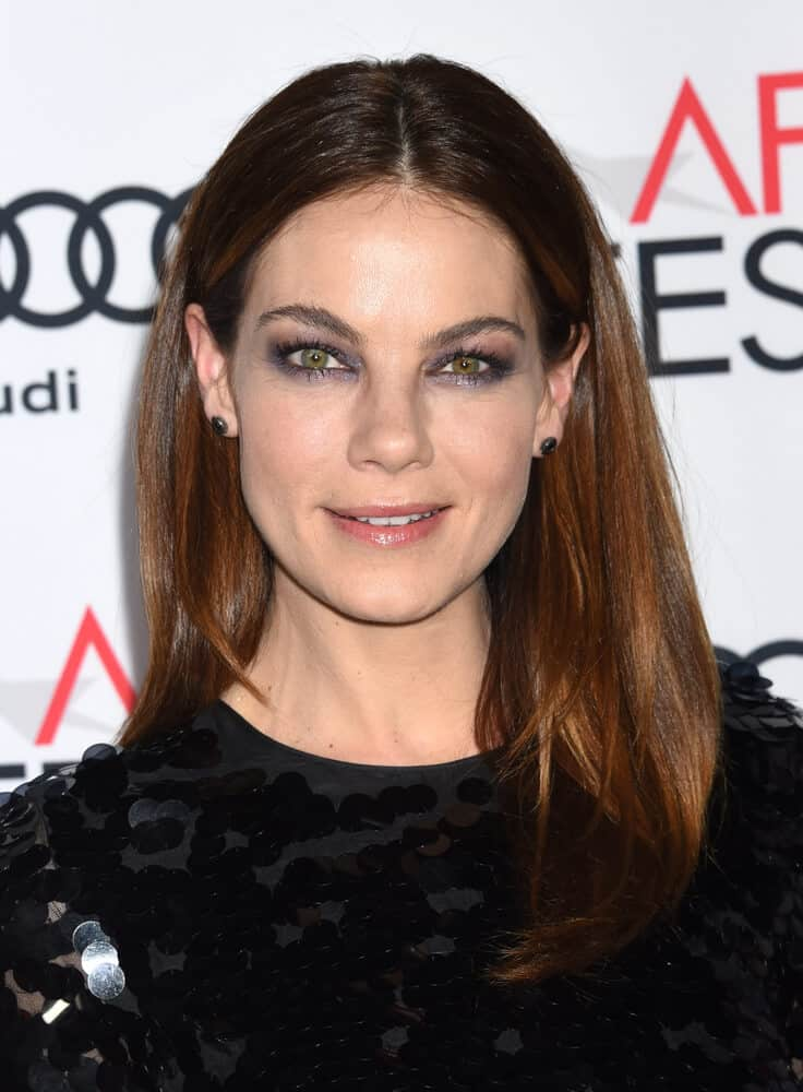 "Who would have thought that this simple, center-parted straight hair will look this enchanting? The actress totally nailed the look during the AFI FEST 2016 ""Patriots Day"" Special Closing Night Gala Presentation."