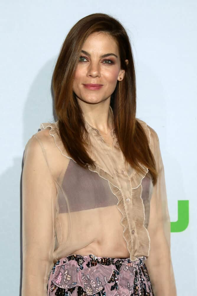 The actress looking preety and classy as always with her sleek and straight hair. This photo was taken at HULU TCA Winter 2017 Photo Call last JAnuary 7, 2017.