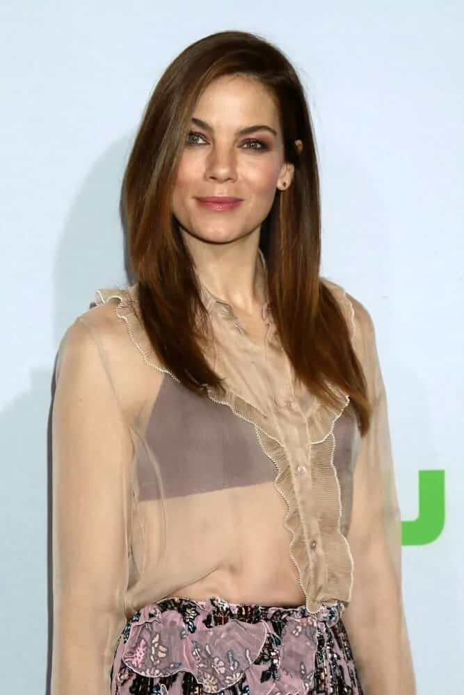 The talented actress was looking pretty and classy with her sleek and straight hair with a slight auburn undertone. This photo was taken at HULU TCA Winter 2017 Photo call last January 7, 2017.