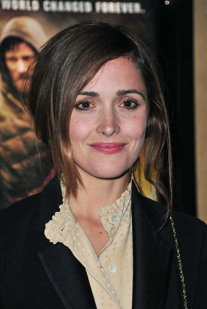 Rose Byrne was at THE ROAD New York Premiere, Clearview Chelsea Cinema, New York, NY on November 16, 2009. She wore a lovely blouse under her black jacket and paired it with a messy and highlighted bun hairstyle with side-swept bangs.