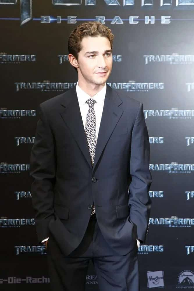 Mr. LaBeouf made an appearance at the German premiere of 'Transformers: Revenge Of The Fallen' last June 14, 2009 with his thick highlighted curls paired with a clean-shaved, fresh face.
