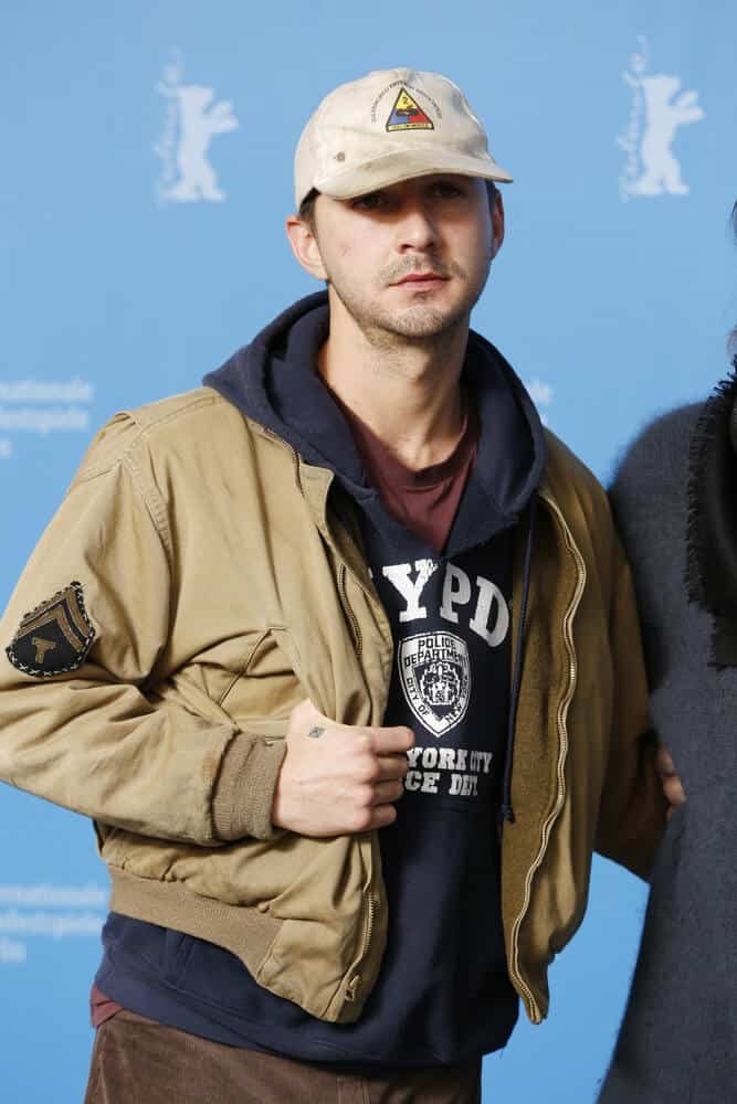 "The actor in a baseball cap, exhibiting with his youthful essence during the ""Nymphomaniac Volume I"" at the 64th Berlinale Film Festival, February 9, 2014."