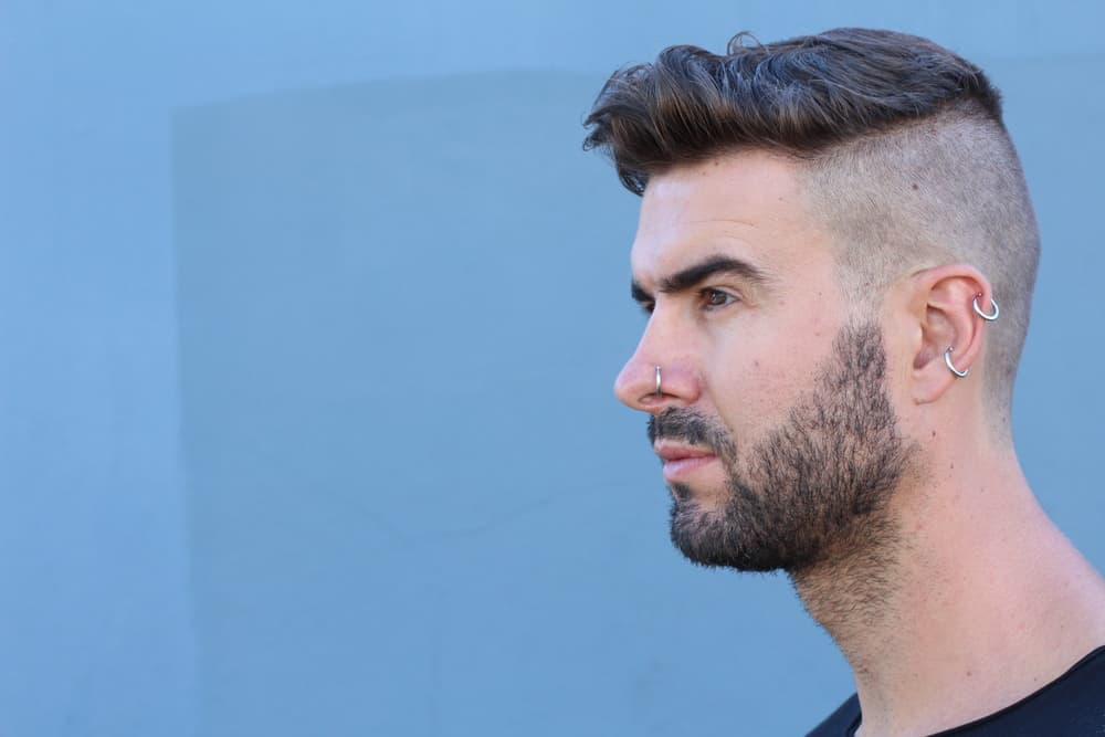 Man with undercut with medium-length hair