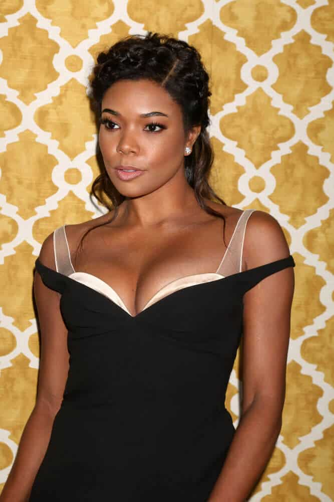 Gabrielle Union wearing a braided half-up