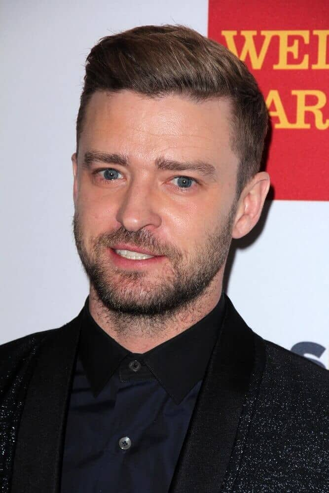 Actor Timberlake attended the 2015 GLSEN Respect Awards with his neat and stylish crew cut.