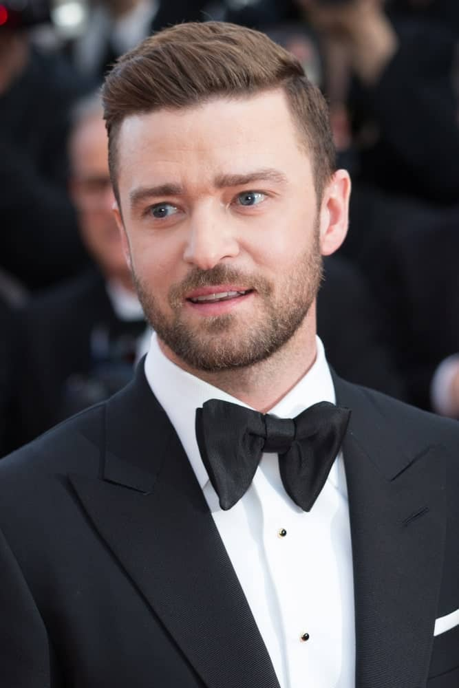 Justine Timberlake attended the 69th annual Cannes Film Festival last May 11, 2016, with a neat and classic hairstyle balanced with some scruff of beard.