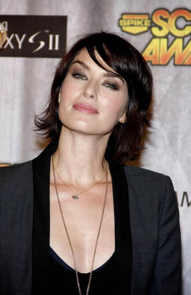 Lena Headey exhibited her chic side with this tousled bob with side-swept bangs during the Spike TV's 2011 Scream Awards.