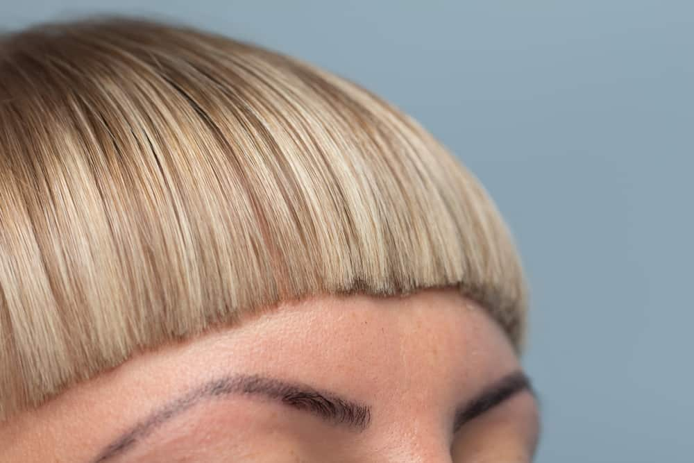 Photo of women with short bangs