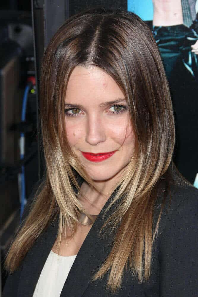 Sophia Bush had her straight and subtle layers parted at the center for extra depth and dimension. This photo was taken at the premiere of 'Magic Mike' during the 2012 Los Angeles Film Festival.
