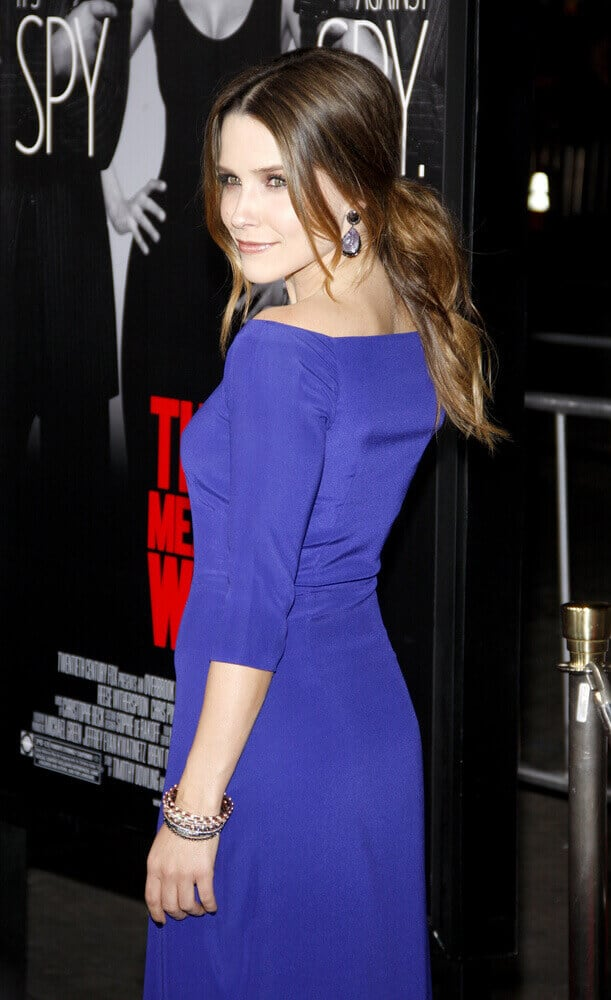Sophia Bush proved that an elegant finish can be achieved even with a messy hairstyle. This tousled ponytail of hers was worn at the LA premiere of 'This Means War', February 8, 2012.