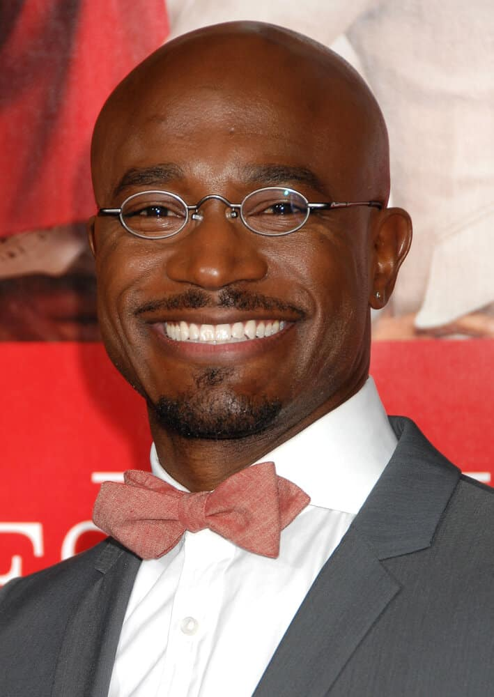 Last November 5, 2013, Taye Diggs attended the world premiere of 'The Best Man Holiday' with his shaved head and tiny, silver-framed spectacles.
