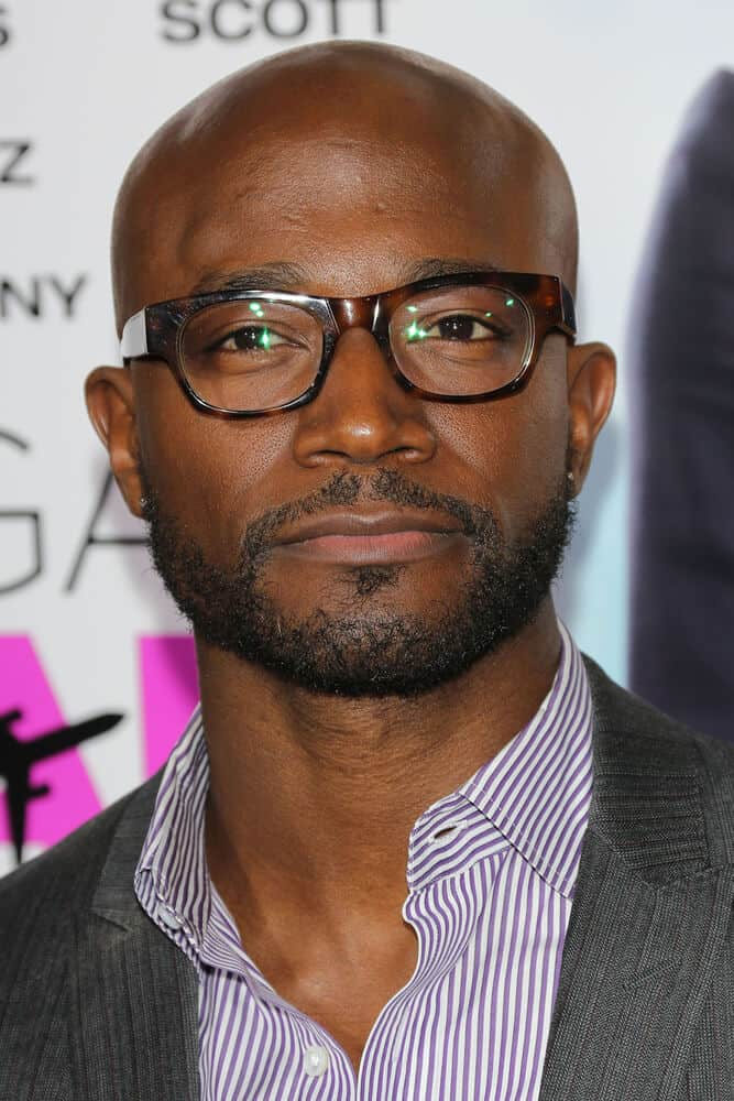 Taye Diggs incorporated his shaved head with an extended goatie last September 25, 2013 at the premiere of 'Baggage Claim'.