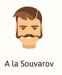 A la souvarov beard style illustration