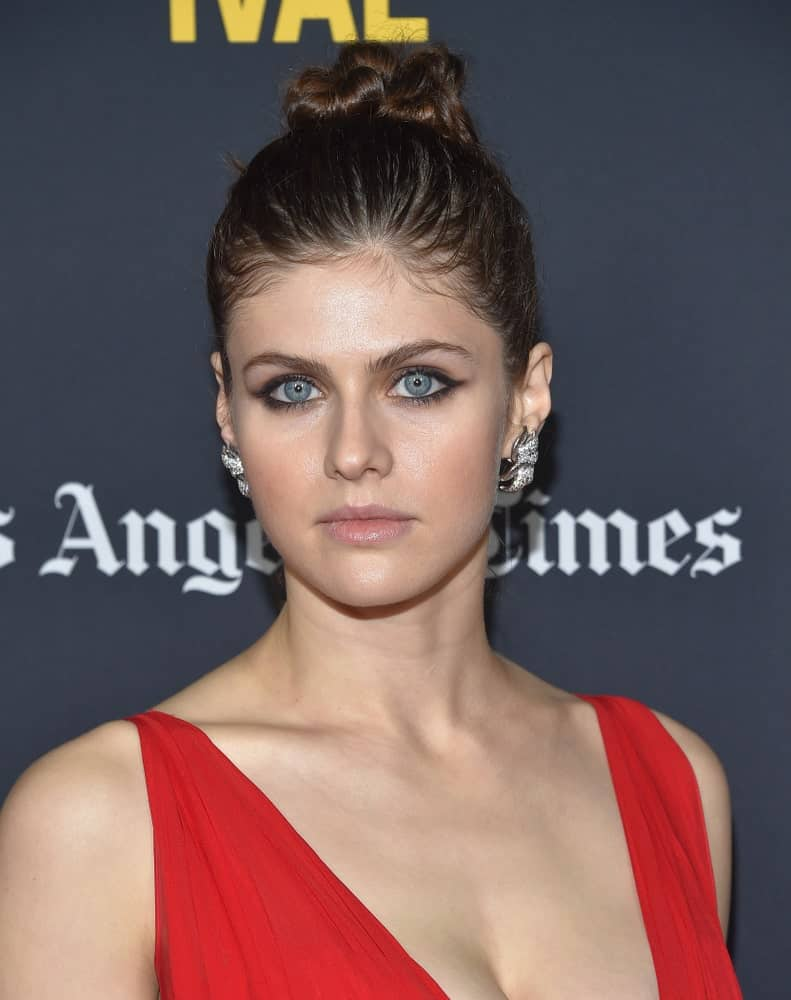 Alexandra Daddario arrives to the 'Nomis' World Premiere – LA Film Festival on September 28, 2018, in Hollywood, CA.