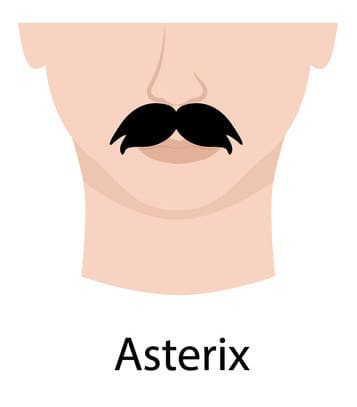 Asterix example mustache style (illustration)