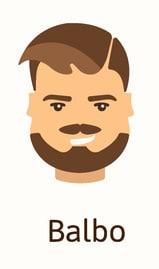 Balbo beard style illustration