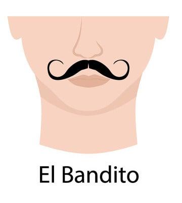 El Bandito mustache example