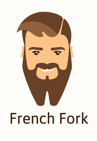 French fork beard style illustration