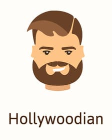 Hollywoodian beard style illustration