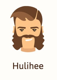 Hulihee beard style example (illustration)