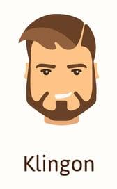 Klingon beard style example
