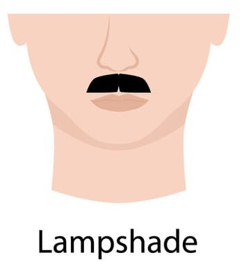 Lampshade mustache style illustration