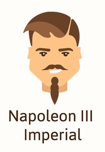 Napolean III imperial beard style example illustration