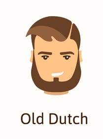 Old dutch beard example (illustration)