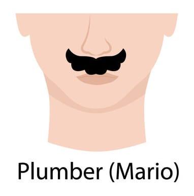 Plumber mario mustache style