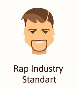 Rap style beard illustration