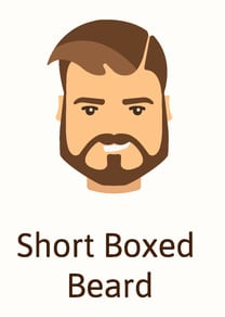 Short boxed beard style illustration