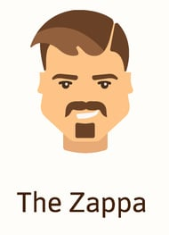 The Zappa beard style illustration
