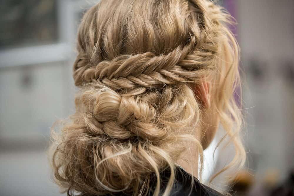 Woman with halo braid