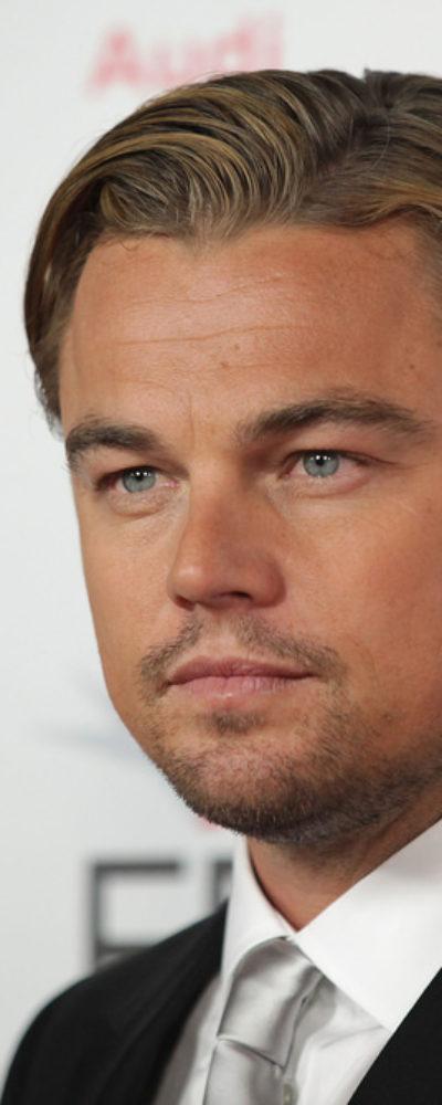 Leonardo DiCaprio with slicked hair at J.Edgar Premiere