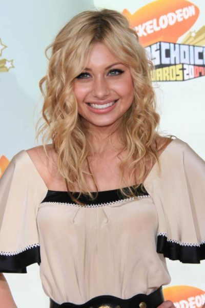 Young Aly Michalka's blonde beach waves.
