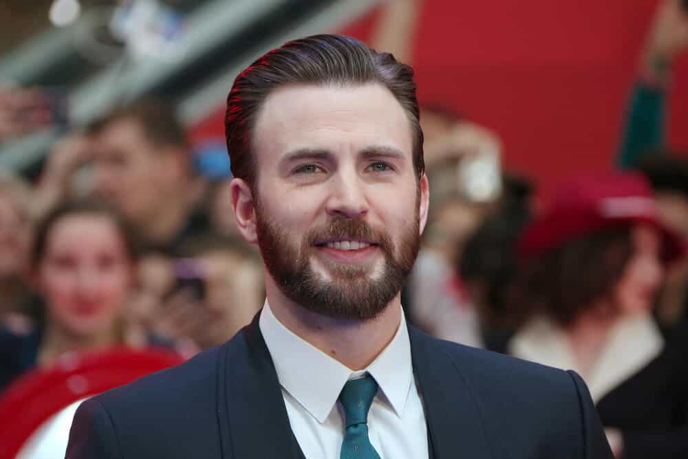 Chris Evans during the premiere of Captain America.