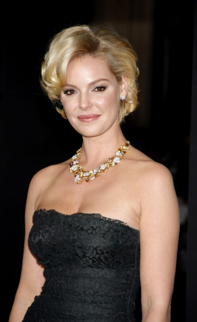 Katherine Heigl in a polished, vintage look.