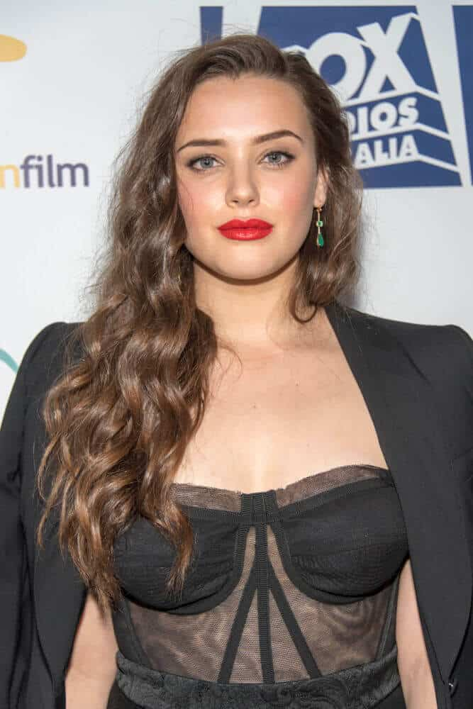 Katherine Langford's long and natural-looking waves.