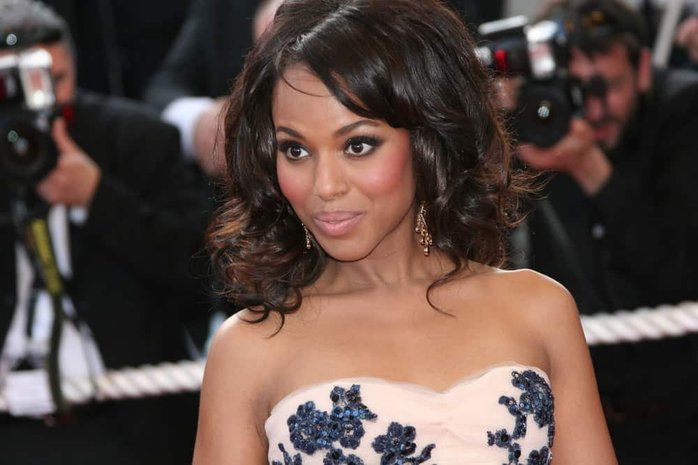 Kerry Washington hairstyle red carpet