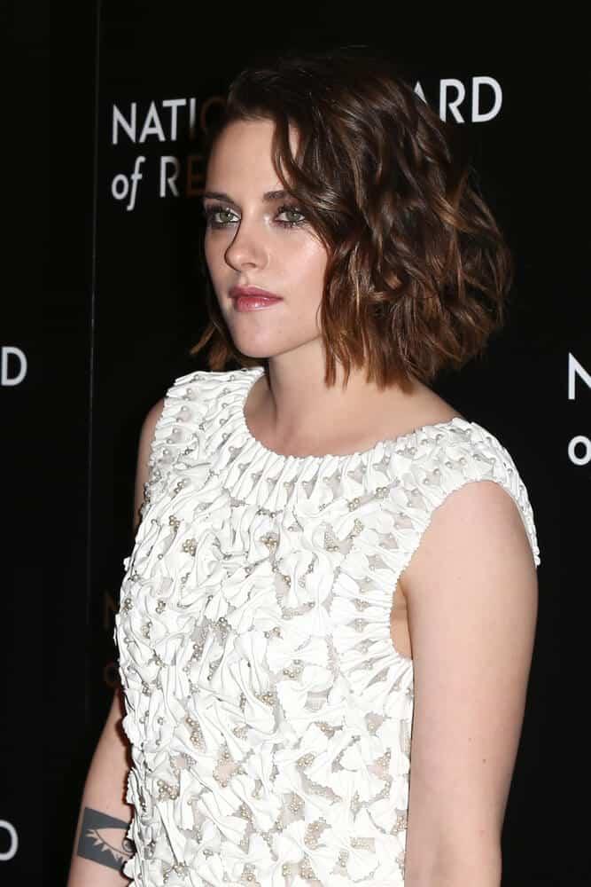 Kristen Stewart's subtly layered bob.