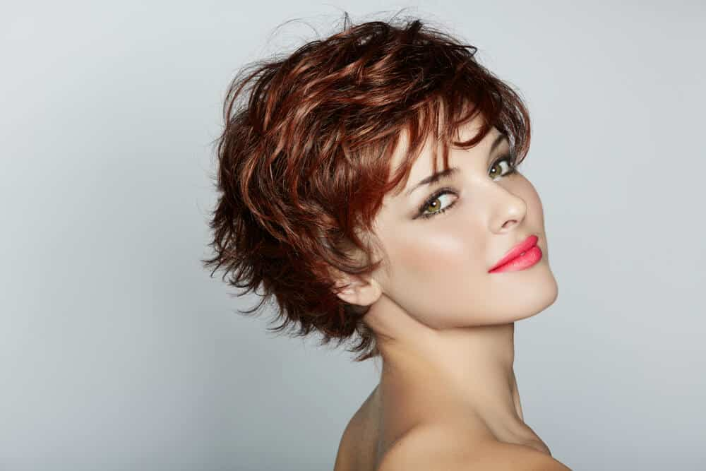 Stylish Woman In A Short Tousled Pixie Cut